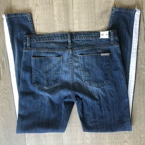 Hudson Jeans Blue Side Strip Nico Midrise Skinny